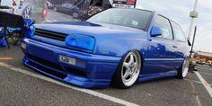 #Volkswagen #Golf #GTI #MK3 #Modified #Stance #Slammed #Blue #Show Car #Tinted Headlights Slammed, Volkswagen Golf, Bmw, Vehicles, Car, Vehicle, Tools