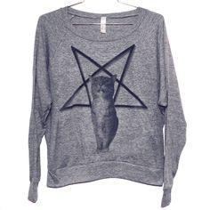 Lucifurr Raglan Pullover (Select Size). $28.00, via Etsy.