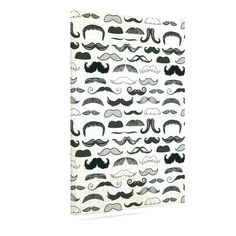 "Heidi Jennings ""Stached"" Gray Black Outdoor Canvas Art"