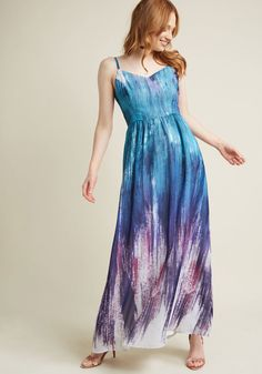 Brushstroke to Conclusions Maxi Dress in Cool