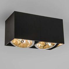 Spot Box 2 schwarz  #Innenbeleuchtung #Außenbeleuchtung #Light #wohnen #einrichten #loveit #awesome #instalove #pretty #picoftheday #beautiful #likemyphoto #followme #modern #QAZQA