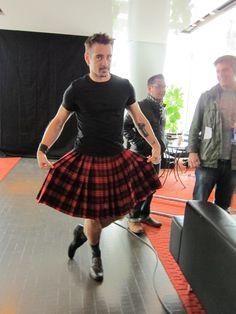 Colin Farrell wearing a Bohemian Society Kilt