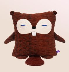 Velvet Moustache sleepy Squirrel pillow