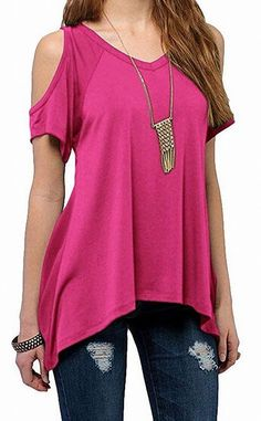 5a27278f7e1 Urban Coco NEW Pink Womens Size XXL Plus Cold-Shoulder V-Neck Knit Top