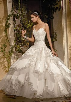 Bridal Gowns: Eve Of Milady Princess/Ball Gown Wedding Dress with Sweetheart Neckline and Dropped Waist Waistline Beautiful Wedding Gowns, Dream Wedding Dresses, Beautiful Dresses, Eve Of Milady Wedding Dresses, Gorgeous Dress, Beauty And Fashion, Gothic Fashion, High Fashion, Wedding Attire