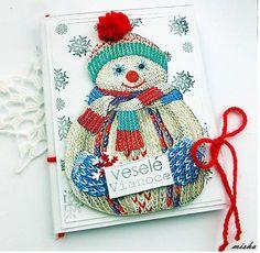 misha_cards / *Pletený snehuliak*