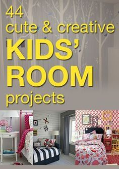 These kid's room projects will give your kids a reason to love being in their room--how sweet is that pink girl's room?!