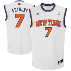 adidas Carmelo Anthony New York Knicks Revolution 30 Home Performance Jersey White