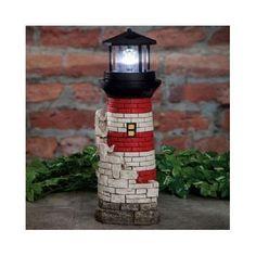 Solar Spinning Beacon Lighthouse Fountain Water Garden Lawn Illuminated Ornament