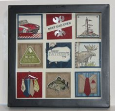 Masculine Collage - Class for June 3rd. www.stampwithsarahs.com