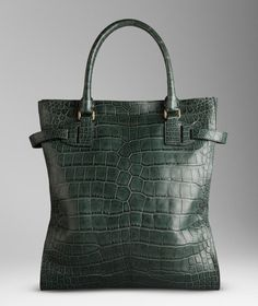 Burberry Bag in Green Alligator Leather