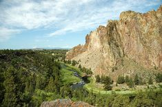 Terrebonne, Oregon is close to Smith Rock, a rock climbers paradise.