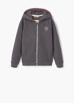 Logo cotton sweatshirt | MANGO KIDS