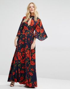 Image 4 ofY.A.S Nehmat Queen Maxi Dress with Kimono Sleeve