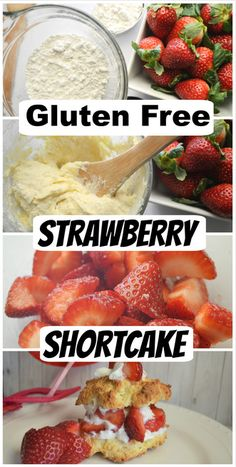 Gluten Free Strawberry Shortcake - The easiest recipe for a year round treat! Gluten Free Strawberry Shortcake is so fresh and delicious! Desserts For A Crowd, Dessert Recipes, Easy Gluten Free Desserts, Strawberry Shortcake Recipes, Strawberry Recipes Gluten Free, Gluten Free Recipes For Kids, Strawberry Desserts, Chocolate Strawberries, Covered Strawberries