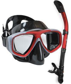 Aqualung Scuba Snorkeling Purge Mask Dry Snorkel Set