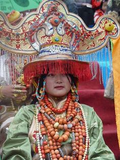 Fact: Princess Amidala's headdresses were inspired by Tibetan ones like these | Flickr - Photo Sharing!