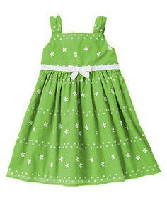 Bow Flower Embroidered Dress - Anna, Meg or Grace $30