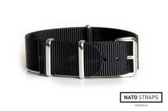 NATO Strap Solid Black 18mm