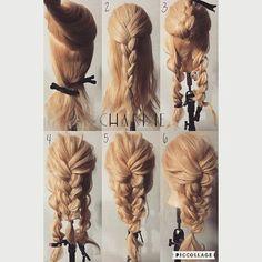 Pin by Klara Drews on Sweet Hairstyles in 2019 Sweet Hairstyles, Work Hairstyles, Pretty Hairstyles, Braided Hairstyles, Pinterest Hair, Hair Dos, Bridal Hair, Hair Inspiration, Curly Hair Styles