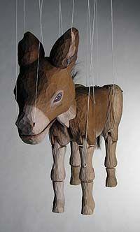"""""""The Donkey"""" Marionette by Niki Ulehla  Artist: Niki Ulehla"""