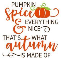 Silhouette Design Store - View Design #146783: pumpkin spice & everything…