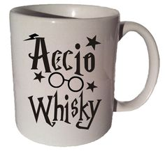 ACCIO WHISKEY Or WHISKY Harry Potter quote 11 oz by CoffeeMugCup