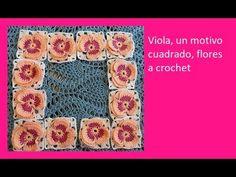 Viola, un motivo cuadrado, flores a crochet dibujo №103 - YouTube