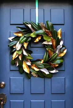 DIY: magnolia wreath