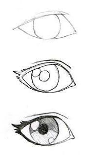 New Eye Drawing Sketches Easy Ideas Naruto Drawings Easy, Anime Drawings Sketches, Cool Art Drawings, Pencil Art Drawings, Cartoon Drawings, Sketch Drawing, Drawing Art, Eye Sketch, Drawing An Eye