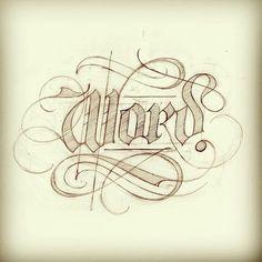 Word. #sketch #lettering #handlettering