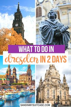 Dresden 2 Day Itinerary: What to do in Dresden Germany in 2 Days. This is the ultimate guide to spend 48 hours in Dresden and see the best the city has to offer. Explore Saxons capital and its baroque castles churches palaces museums bicycling and beer! Europe Travel Guide, Europe Destinations, Us Travel, Travel Guides, Travel Store, Cities In Germany, Visit Germany, Germany Travel, Germany Castles