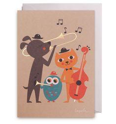Animal Jazz Greeting Card - Lagom Design