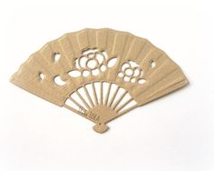 Items similar to Set of 8 Brown gold latge Elegant Blossom Fan Die cut - Embossed pattern- Paper Fan cut outs, Embellishments on Etsy Paper Fans, Colour List, Pattern Paper, Invitation Cards, Craft Supplies, Embellishments, Scrapbook, Table Decorations, Elegant
