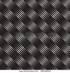 Stylish Minimalistic Halftone Circle Grid. Abstract Geometric Background Design. Vector Seamless Black and White Pattern.
