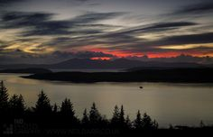 Arran Sunset - Arran and Little & Great Cumbrae from Haylie Brae above Largs.
