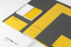 personal identity by guilherme dultra villar, via Behance. Nice color combo and clean typography.