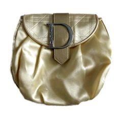 448e276a74055 Christian Dior Large Cosmetic Makeup Bag Travel accessory Gold beautician  Vintage Dior Mini bag Dior logo