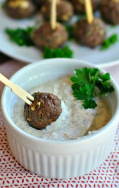Mini Gyro Meatballs