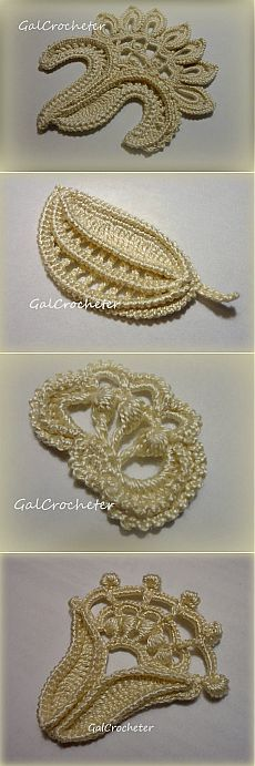 New crochet flowers lace english Ideas Irish Crochet Patterns, Crochet Motifs, Freeform Crochet, Thread Crochet, Crochet Designs, Crochet Crafts, Crochet Projects, Crochet Flowers, Crochet Lace