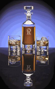 Personalized Avalon Crystal Decanter Gift Set