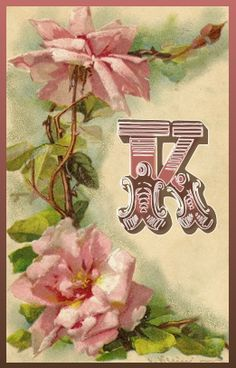 A K for my pin pal Kenda :-) Letter W, My Cup Of Tea, Rose Cottage, Monogram Letters, Craft Gifts, Love Of My Life, Hand Lettering, Tatoos, Photo Art