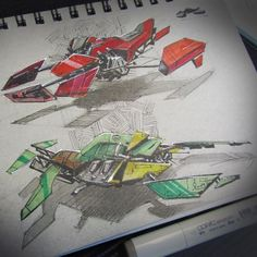 Dwayne from Future Elements posted these amazingly detailed sketches on Instagram. You can almost hear the roar of the engine! #sketch #inspired