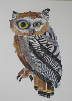 """And an owl!  An Australian Emma Gale has worked as a graphic designer for about 13 years, currently living in the village of Bangalow in Northern NSW. She has exhibited in several shows and won the Border Art Prize. Animals, landscapes and animals are the primary subject in her artwork. Her work celebrates """"a love of colour and pattern and combining them together""""."""