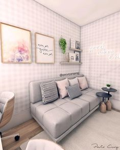 O outro lado do home office que postei onte Sofa, Couch, Room Organization, 3 D, New Homes, Bedroom, Chair, Furniture, Design