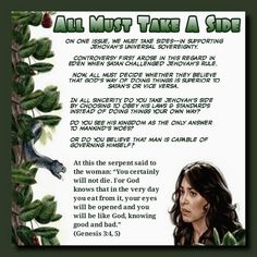 """At this the serpent said to the woman: """"You certainly will not die. For God knows that in the very day you eat from it, your eyes will be opened and you will be like God, knowing good and bad."""" (Genesis 3:4,5)"""