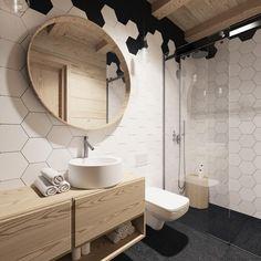 Płytki plaster miodu: aranżacja łazienki