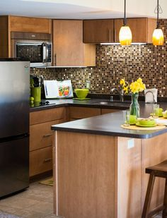 Your private kitchen - custom built maple cabinets, stainless steel appliances, fully stocked dishes/pots pans