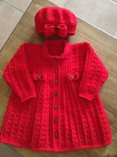 ideas for crochet baby hats girl sweets Diy Crochet Cardigan, Crochet Dress Girl, Crochet Baby Sweaters, Knitted Baby Clothes, Crochet Girls, Crochet Baby Hats, Crochet For Kids, Crochet Clothes, Baby Knitting Patterns