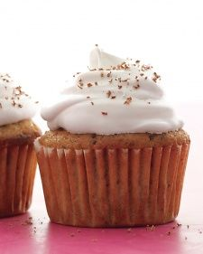 Cappuccino Chocolate Cupcakes ~ Finely chopping the chocolate results in small shards that won't sink in the batter. Use a spring-loaded ice cream scoop to transfer batter to muffin cups with ease.